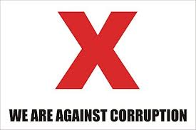 We are against corruption